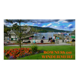 Poster Bowness-em-Windermere, Inglaterra