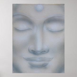 Pôster buddah face meditation