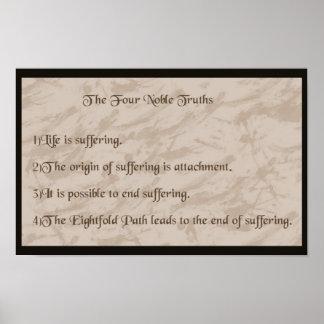 Pôster Budismo nobre de quatro verdades