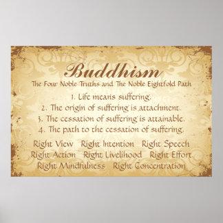 Pôster Budismo quatro e oito
