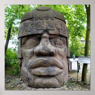 Pôster Cabeça antiga de Olmec!