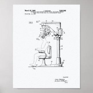 Poster Cabelo automático que corta o Livro Branco da arte
