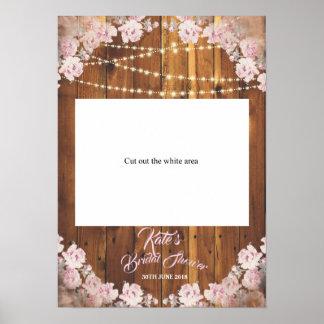 Poster Cabine clara floral rústica da foto do corte do