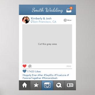 Poster Cabine social da foto do casamento do quadro do