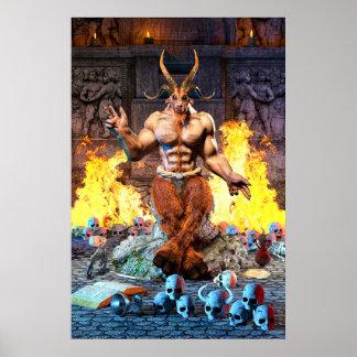 Pôster Cabra sabática Baphomet satânico
