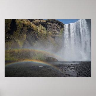 Pôster Cachoeira de Skógafoss, Islândia