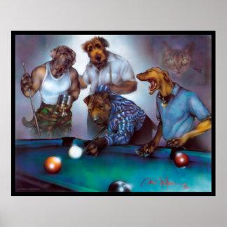 Pôster Cães que jogam a piscina - Dan Mc Manus