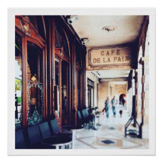 Pôster Café de la Paix, mercado 2014 de La Rochelle