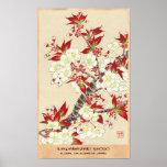 Pôster Calendário floral de Kawarazaki Shodo de Japão