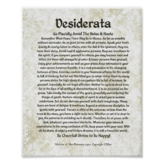 Poster Caligrafia Ehrmann-Medieval máxima do poema dos DE