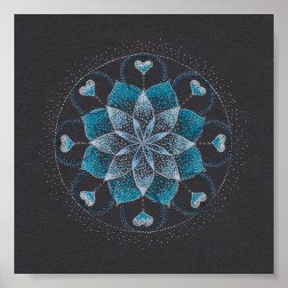 Poster calmo do quadrado da arte da mandala (Matt)