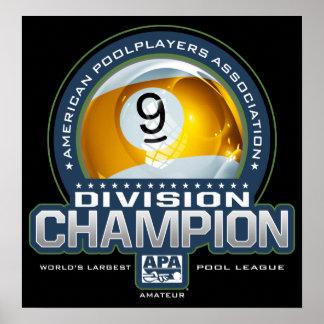 Pôster Campeões da divisão da bola de APA 9