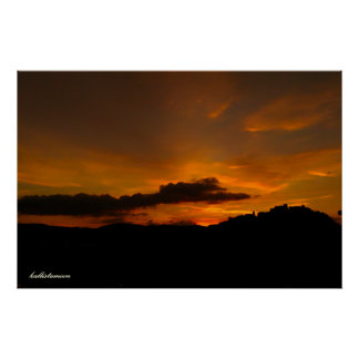 Poster Campobasso, tramonto do un!