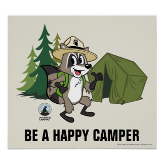 Poster Campout americano do rick | da guarda florestal