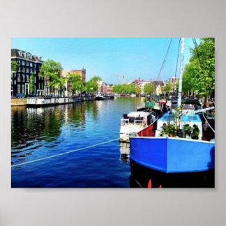 Poster Canal de Amsterdão