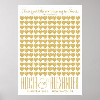 Poster Canção do Guestbook do costume do ouro de Solomon