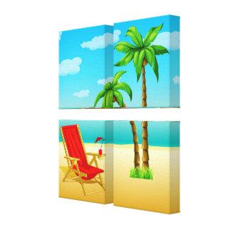 Poster Canvas2 da fantasia do verão Impressão Em Tela