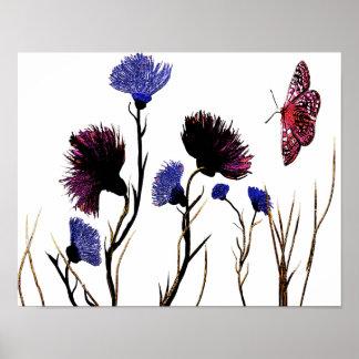 Poster Canvas florais abstratas