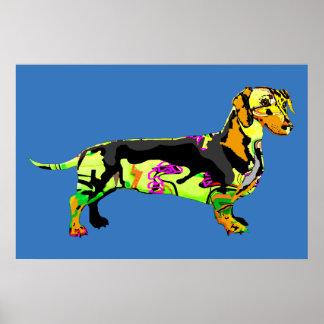 Poster Cão dos grafites
