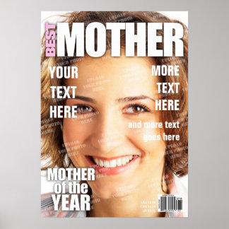 Poster Capa de revista personalizada mãe