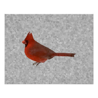 Poster cardinal geométrico da arte