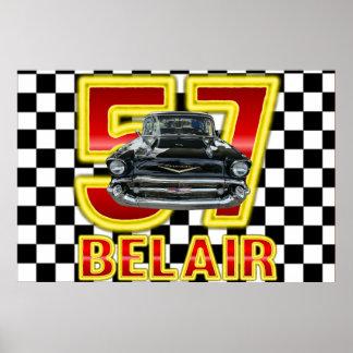 Pôster Cartaz 1957 do Bel Air de Chevy
