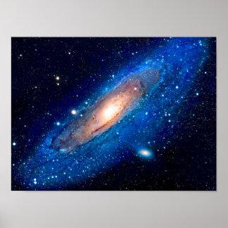 Pôster Cartaz da galáxia do Andromeda