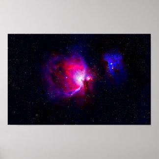 Pôster Cartaz da nebulosa de Orion