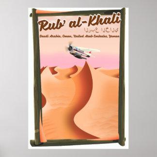 Pôster Cartaz das férias de Khali Arábia Saudita do al de