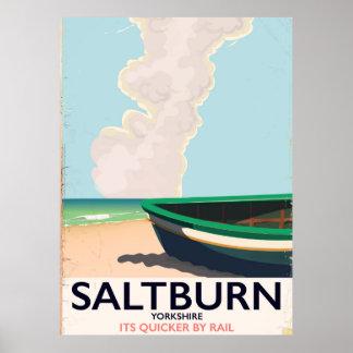 Pôster Cartaz das viagens vintage de Saltburn - de