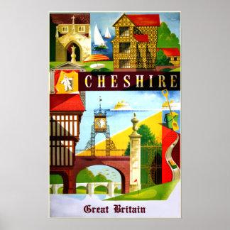 Pôster Cartaz do viagem de Cheshire, Grâ Bretanha