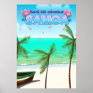 """Poster Cartaz do viagem na aventura de Samoa """"viagem"""""""