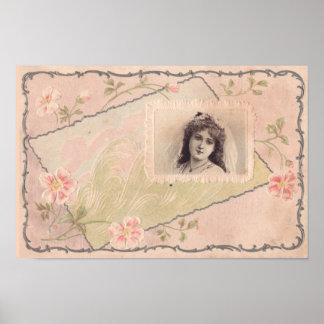 Pôster Cartaz requintado da arte da ilustração do vintage