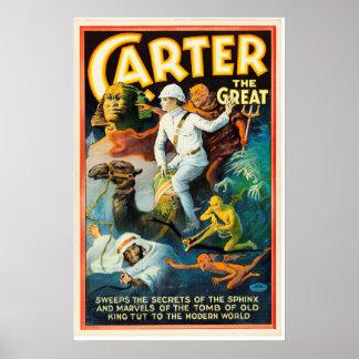 Pôster Carter o excelente varre os segredos da esfinge