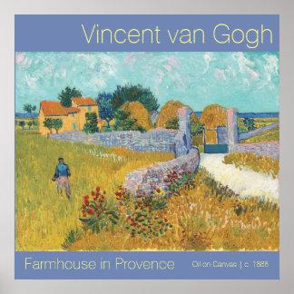 Pôster Casa da quinta restaurada de Van Gogh em belas