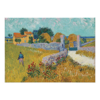 Poster Casa da quinta restaurada de Van Gogh em Provence