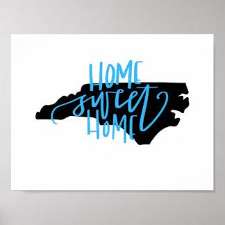 Pôster Casa doce Home - arte da parede de North Carolina