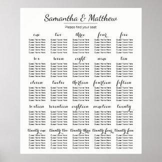 Poster Casamento simples & chique - mais carta de
