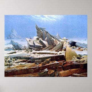 Poster CASPAR DAVID FRIEDRICH - o mar do gelo 1824