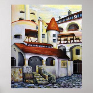 Pôster Castelo de Dracula - pátio interior