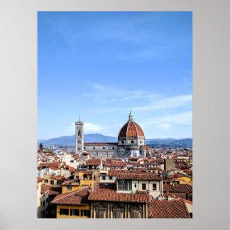 Poster Catedral de Florença (di Firenze do domo)