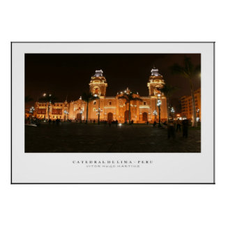 Poster Catedral do Peru