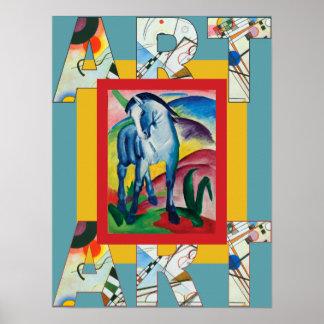 Pôster Cavalo azul mim por Franz Marc