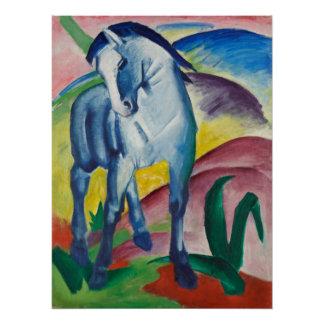 Pôster Cavalo azul pela arte do Expressionism do vintage