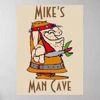 Pôster Caverna do homem, jogador de dardo