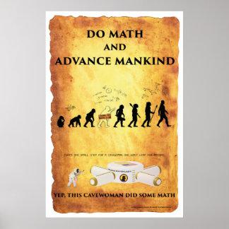 Pôster Cavewoman espertos: Faça a matemática e avance o