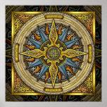 Poster celta das belas artes do compasso