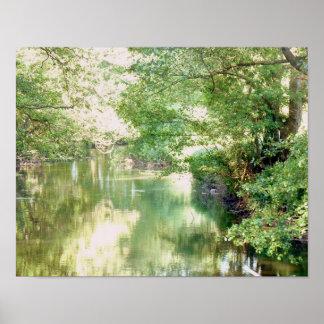 Pôster Cena do rio de Norfolk