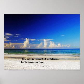 Poster cénico da praia
