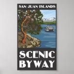 Poster cénico do Byway das ilhas de San Juan